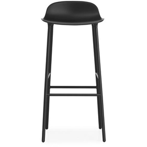 Normann Copenhagen Chaise de bar avec structure en métal - 75 cm - noir