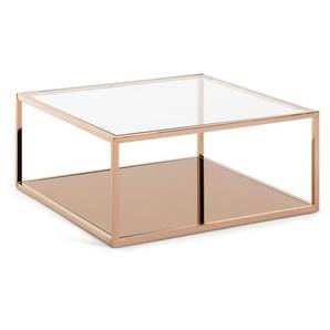 Table basse carrée Greenhill 80 x 80 cm cuivré