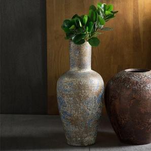 Vase décoratif cuivré et turquoise NIDA