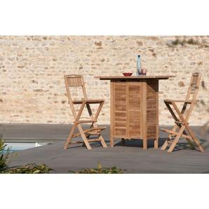 Chaise pliante de bar en bois teck grade A - MACABANE