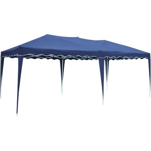 Tente de réception ZÉPHYR pliante 3 × 6m Bleu - HAPPY GARDEN