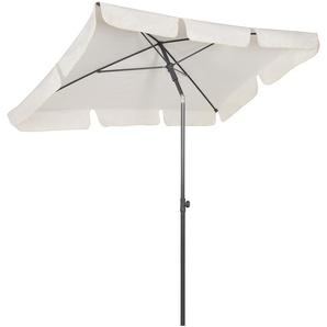 Sekey Parasol de Jardin 200 x 125 cm - Protection Solaire UV 50+ - Crème - Carré