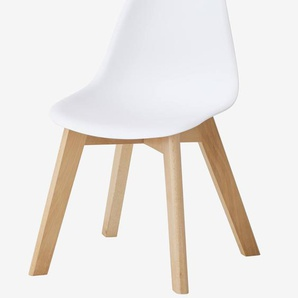 Chaise sp�cial maternelle Scandinave, assise H 31,5 cm blanc