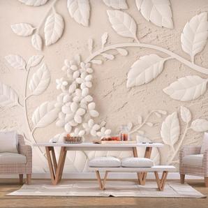 Papier peint - Paper Flowers (Beige)