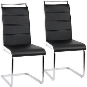 Ensemble de 2 chaises en porte-à-faux de chaise de salle à manger chaise chaise rembourrée chaise berçante - JEOBEST