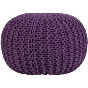 Pouf tricoté violet 50 cm - BELIANI