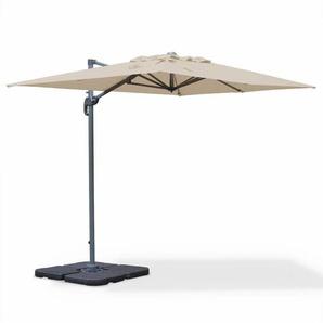 Parasol déporté rectangulaire Biscarosse 2x3m Beige excentré inclinable rotatif à 360° - ALICES GARDEN