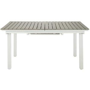 Table de jardin extensible 6/10 personnes en aluminium et composite L157 Escale