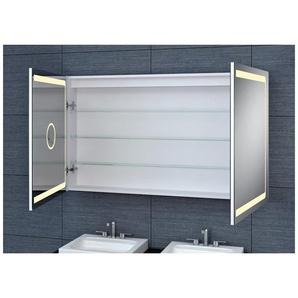 Armoire de toilette aluminium - Modèle JA 120 - 70 cm x 120 cm (HxL) - PRADEL