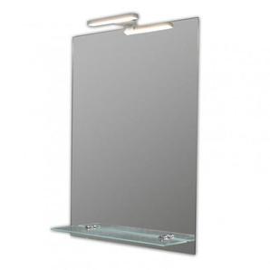 Miroir de salle de bains avec éclairage LED - Modèle Spoti 50 - 65 cm x 50 cm (HxL) - PRADEL