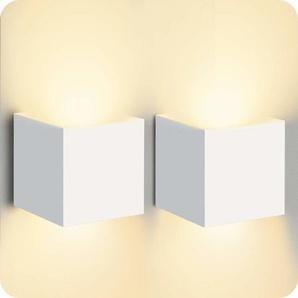 2Pcs Applique Murale Interieur Up Down Blanc Chaud 12w Design Moderne Led Blanc Pour Escalier,Chemin,Chambre - STOEX