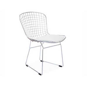 Chaise Bertoia Wire Side - Blanc