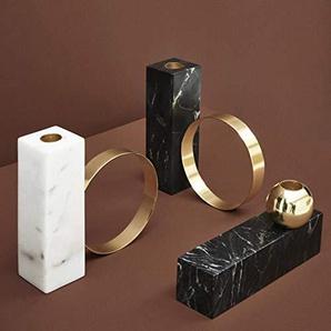 Fzwang Chandelier de Set Home Table ornements décoratifs artisanat bougie marbre three-piece définit