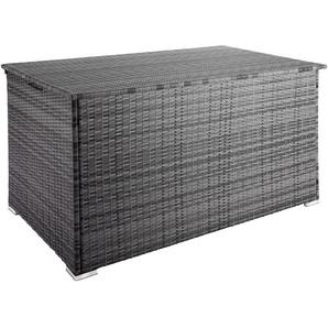 Coffre de Jardin de Rangement extérieur 750 L en Résine tressée et Aluminium Gris - TECTAKE
