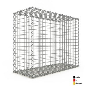 Gabion 100x80x40cm « made in Germany » - mailles carrées 5x5cm - GABIONDECO