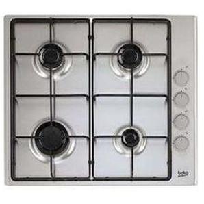 Table de cuisson, 60 cm, 4 Gaz, Inox Beko HIZG64120SX - BEKO - HIZG64120SX Sécurité thermocouple : evitez tout risque dinflammation Allumage intégré : les brûleurs des foyers se mettent en marche dun seuk geste