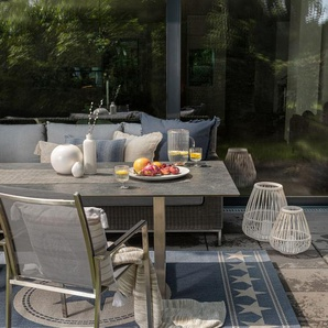 Tapis dextérieur Metro Bleu 160x230 cm - Tapis outdoor pour balcon, terrasse et jardin