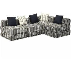 Canapé modulaire à 4 places Tissu Rayure