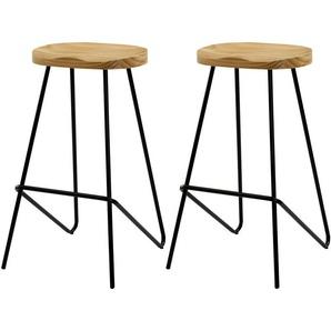 Chaise de bar Victoire en bois 78 cm (lot de 2) - RENDEZ VOUS DéCO