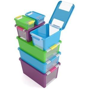 ABM Boîte de rangement Bi box - 40 L - Violet