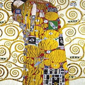 Gustav Klimt Poster Papier Peint Autocollant - LEmbrassement (Détail) (180 x 120 cm)