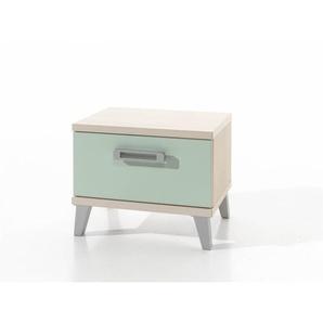 Chevet enfant contemporain frêne/vert Verone - Frêne/vert - DELADECO