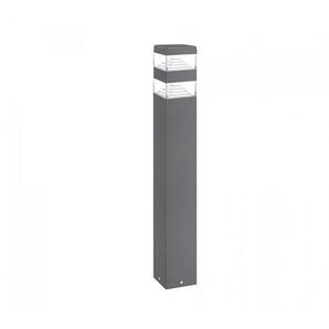 Borne Pyramide Inox 32 LED SMD 9W | blanc-neutre-4000k - hauteur-60cm - anthracite - LUMIHOME