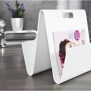 Porte-revue design en bois MDF coloric blanc