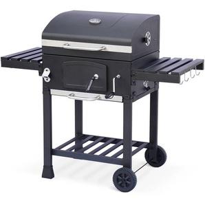 Barbecue charbon Bernard, récupérateur de cendres, aérateurs, bac charbon ajustable, tablettes - ALICES GARDEN