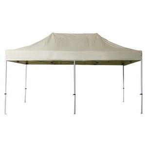 Tente pliante 3x6m polyester 300g/m² pélliculé PVC tube acier 32mm Coloris Ivoir - INTEROUGE