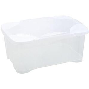 EDA PLASTIQUE Boîte de rangement ClipBox 30 L - Naturel couvercle avec charnière - 54 x 36 x 24,5 cm
