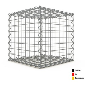 Gabion 40x40x40cm « made in Germany » - mailles carrées 5x5cm - GABIONDECO