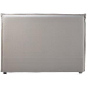 Housse de tête de lit 160 en coton gris
