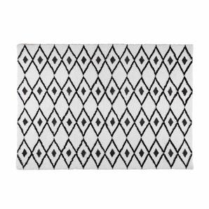 Tapis berbère noir et blanc 140x200 JYAM