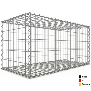 Gabion 100x50x50cm « made in Germany » - mailles rectangulaires 5x10cm - GABIONDECO