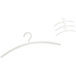 Schönbuch Set de 4 lot de cintres 0155 - blanc/revêtu par poudre/lxHxP 45x17x1cm