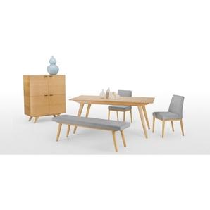 Aveiro, table extensible 8 à 10 personnes, chêne
