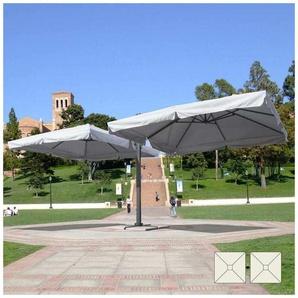 Parasol de jardin 3x3 bras double mât double en aluminium bar hôtel contrat OSLO | avec volant - ELIOS PARASOLS