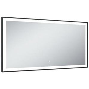 Miroir de salle de bains avec éclairage LED - Modèle Black Mirror - 60 cm x 120 cm (HxL) - PRADEL
