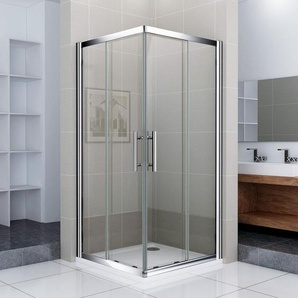 Porte de douche 100x90x187cm Porte coulissante Cabine de douche accès dangle verre sécurit - AICA SANITAIRE