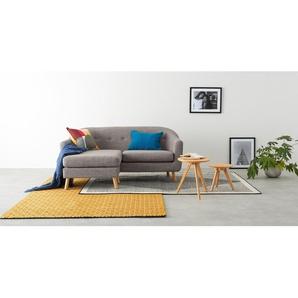 Lottie, canapé d'angle compact avec méridienne à gauche, gris craie