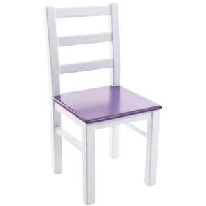 Kinderbunt Marie - Chaise d'Enfant bicolore - blanc/violet