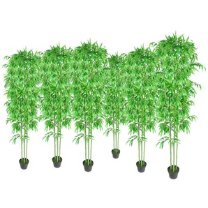 Lot de 6 bambous artificiels 190cm