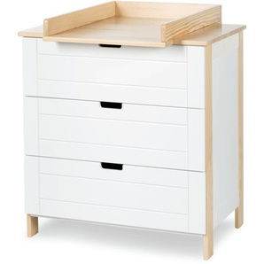 Commode Kiwo + plan à langer - Blanc,Pin