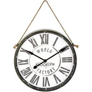 Horloge en métal noir 71x101