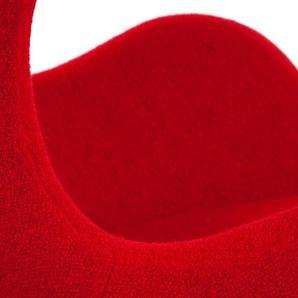 Fauteuil Egg Arne Jacobsen - Rouge