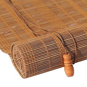 JU FU Rideau en bambou aveugle rouleau - Rideau en bambou naturel Nanmu cordon étanche à la poussière et imperméable à leau creuse de salle de thé creux [3 couleurs 23 tailles] @