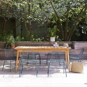 Table de jardin en bois de teck 180 Vadim