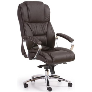 JUSTyou Chaise de bureau Foster Brun