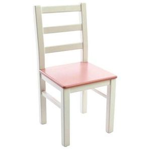 Kinderbunt Marie - Chaise d'Enfant bicolore - blanc/rose